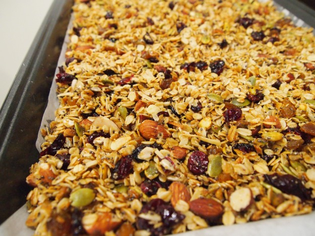 coconut nut and seed granola